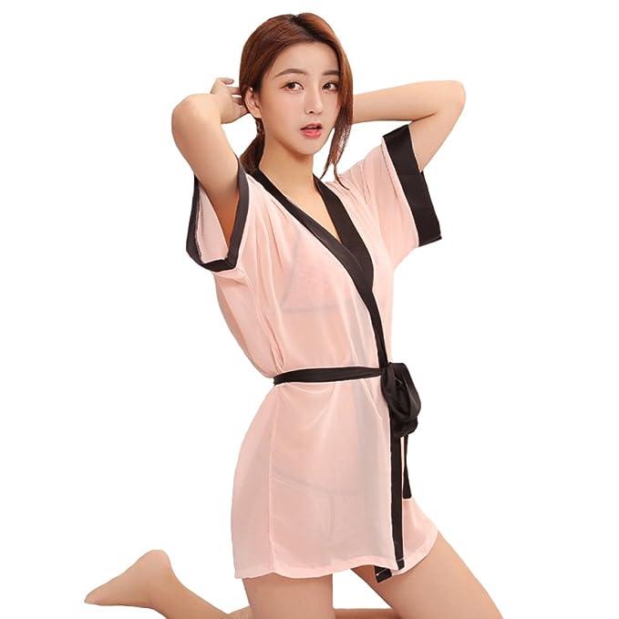Pijamas De Kimono Rebeca De Rebeca De Albornoz De Las Mujeres Sexy Set Lencería Sexy Agregar Diversión A La Vida Sexual (Adecuado para Mujeres De 40-70 Kg), ...