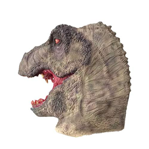 Scary Bloody Tyrannosaurus Dinosaur Mask Horror Halloween One Size Evil Bloody Teeth Dinosaur T-Rex Mask by Halloween Paradise (Image #3)
