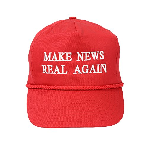 Make News Real Again Baseball Cap - Men's and Women's Funny Hat - Red MAGA Style