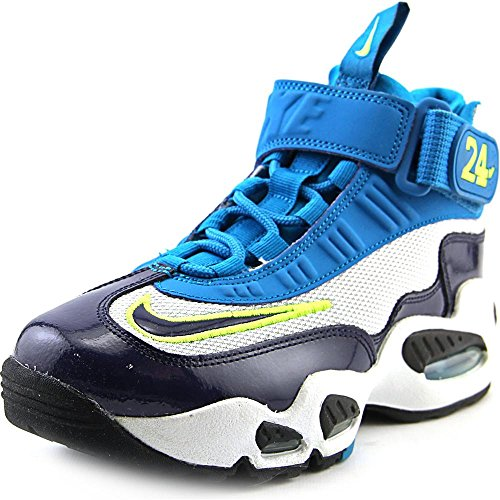 Nike Air Griffey Max 1 (GS) Boys Cross Training Shoes 437353-003 Pure Platinum Midnight Navy-Neo Turquoise-Black 6 M US
