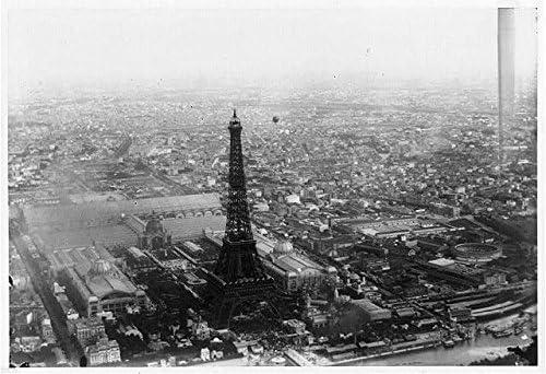 Foto: vista aérea de globo, París, Francia, Torre Eiffel ...