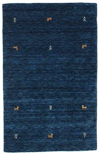 RugVista Gabbeh Loom - Dark Blue Rug 3'3