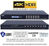 8x8 HDMI 2.0 HDR 4K 18GBPS 60HZ Matrix Switcher YUV 444 HDCP2.2 HDTV Routing Selector SPDIF Audio Control4 Savant Home Automation (8x8 HDMI HDR)