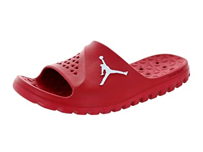 28e759fbe9ff Image Unavailable. Image not available for. Color  NIKE Mens Jordan Super  Fly Team Slide Red Synthetic Sandals ...