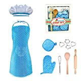 LET'S GO! Best Gifts for 3-8 Year Old Girls Boys, DIMY Cooking and Baking Set Chef Set for Boys...