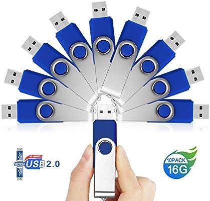 10 Piezas Memorias USB Pendrive 16GB – JUYUKEJI Pen Drive Flash ...