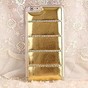 QJM iPhone 6 compatible Special Design/Diamond Look Back Cover , Black