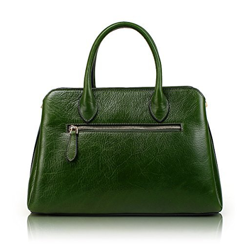 Top Designer Embossed Tote Unique Handbags APHISON Cowhide Style Bags Green Ladies Leather Floral Handle zYxdRw5nR