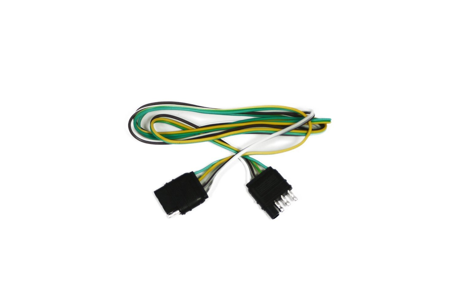 Abn Trailer Wire Extension 10 Foot 4 Way Pin Plug Electrical How Should The Lights For A Be Hooked Up Flat 20 Gauge Hitch Light Wiring Harness Extender Automotive