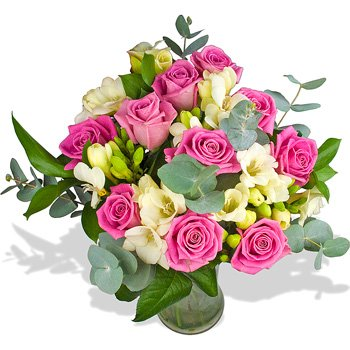 8141351b9b Fresh Pretty Lady Flowers with Free Delivery - A Beautiful Bouquet Filled  with Pink Roses and
