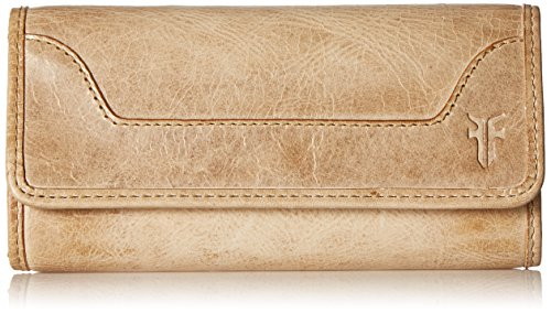 Melissa Continental Snap Leather Wallet Wallet, Sand, One Size by FRYE
