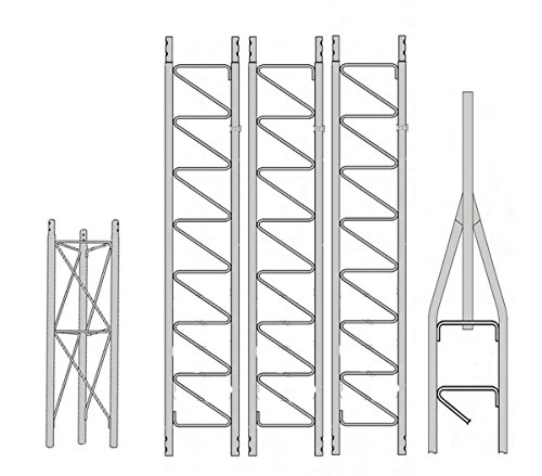 (ROHN 25SS040 40' Self-Supporting Tower, No Ice)