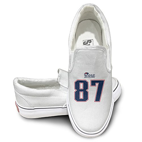 Rebecca Rob Gronkowskis Comfort Unisex Flat Canvas Shoes Sneaker 41 White The Round Toe And Manmade Sole Will Keep Your Feet Feeling Comfortable And The Quality Canvas Materials Will Provide Years Of ()