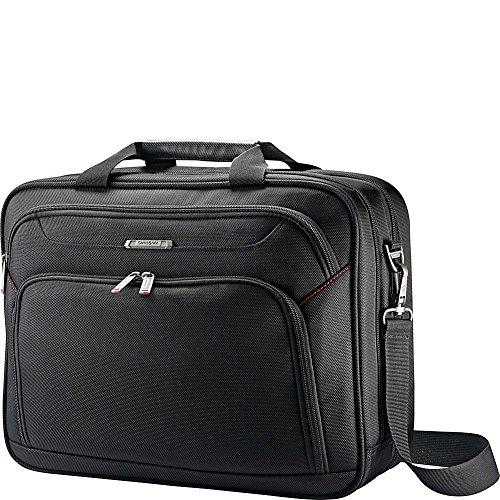 Samsonite Xenon 3.0 Gusset Check-Point Friendly Tech Locker Brief Briefcase, Black, Double