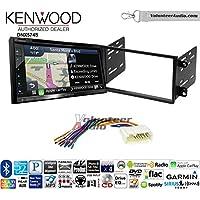 Volunteer Audio Kenwood DNX574S Double Din Radio Install Kit with GPS Navigation Apple CarPlay Android Auto Fits 2003-2008 Honda Pilot