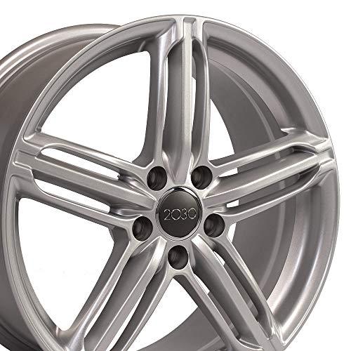 OE Wheels 18 Inch Fits Volkswagen CC Beetle Audi A3 A8 A4 A5 A6 TT 18x8 RS6 Style AU12 Silver Rim ()