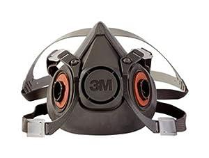 3M Half Face Piece, Reusable Respirator, Large Mask - 6300/07026