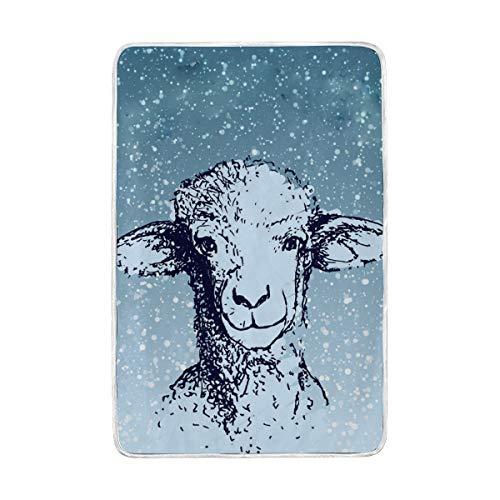 Jonassk Woolffk Wolf in Sheeps Clothing Soft Blanket All Season Comfort Super Soft Warm Plush Blanket Fuzzy Light Warm Wool Blanket Sofa Bed, 60x90 Inches ()