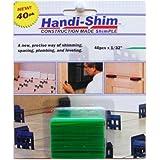 Watman HS13240GR 0.03 in. Green Shim, 40 Pack