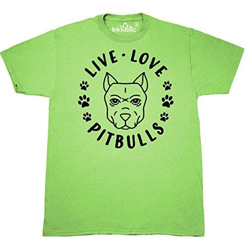 inktastic Live Love Pitbulls T-Shirt X-Large Key Lime 30dcc 662 Bull