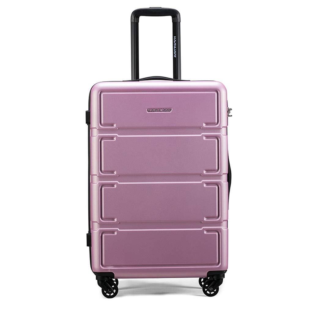 FRF トロリーケース- 男女の普遍的な車輪のトロリー箱、学生の簡単な無地の荷物ロック箱 (色 : ピンク, サイズ さいず : 28in) 28in ピンク B07QRXKXBX