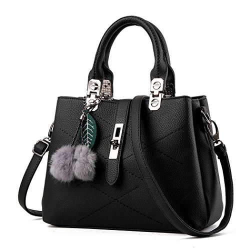 Ryse Womens Fashionable Classic Metal Buckle Furry Ornaments Exquisite Handbag Shoulder - Minimum Shopping Price Online