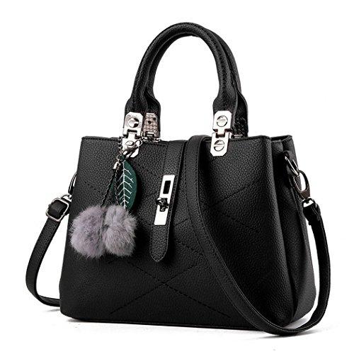 Ryse Womens Fashionable Classic Metal Buckle Furry Ornaments Exquisite Handbag Shoulder - Online Minimum Price Shopping