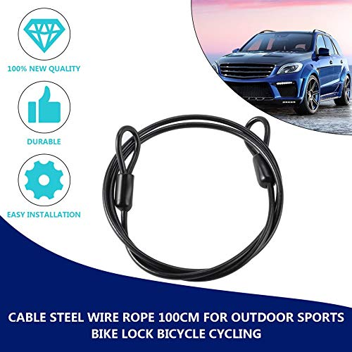 Cable Steel Wire Rope 100cm/39 for Outdoor Sports Bike Lock ...