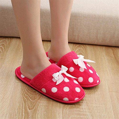 pour WYXlink Chaussons Chaussons Femme Red WYXlink 8ZxRErw8n