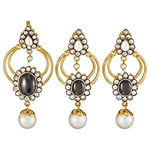 IStyle4U Gold Plated Blackstone Pearl Jewelry Set of 3 - IS4U91BLCKPRL