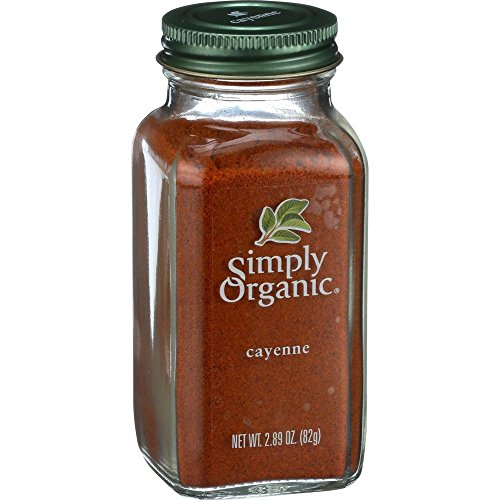 Simply Organic Cayenne Pepper Certified Organic, 2.89-Ounce Container (Cayenne Pepper Spice)