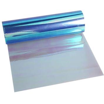 "Blue Protective Vinyl Film Tint Headlight Taillight Wrap Roll 2PCS 12/""x24/"" In"