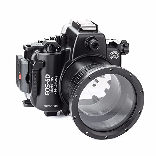 SeaFrogs 40M 130ft Diving Waterproof Housing Case for Canon 5D III IV 5D3 5D4 Supports 24-105mm Lens by SeaFrogs (Image #4)