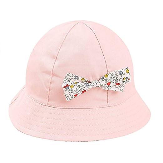 b3163d72559 Amazon.com  Baby Summer Cotton Bucket Hat Girls Beach Hat Wide Brim ...