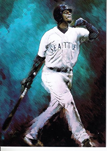 51KKxk4kYJL - Ken Griffey Jr #1-Print Sketch Card-RARE-Seattle Mariners-AL MVP-HALL OF FAME- Unlimited Edition Sketch Cards- BUY IT NOW OR MAKE AN OFFER