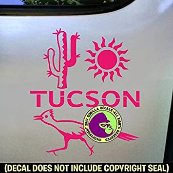 Tucson city arizona vinyl decal sticker car window bumper wall laptop sign pink