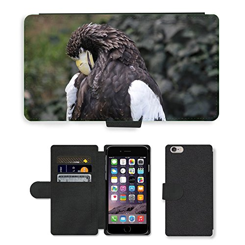 Just Phone Cases PU Leather Flip Custodia Protettiva Case Cover per // M00128470 Oiseau de proie Eagle Flight Oiseau // Apple iPhone 6 PLUS 5.5""