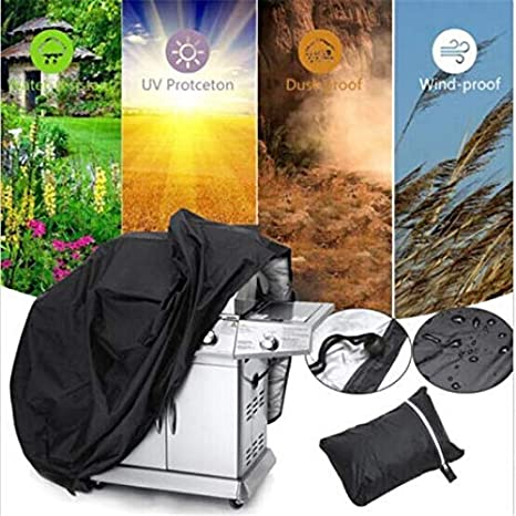 ABYSTEPS Covers - Black Waterproof BBQ Grill Barbeque Cover Outdoor Rain Grill Barbacoa Anti Dust Protector