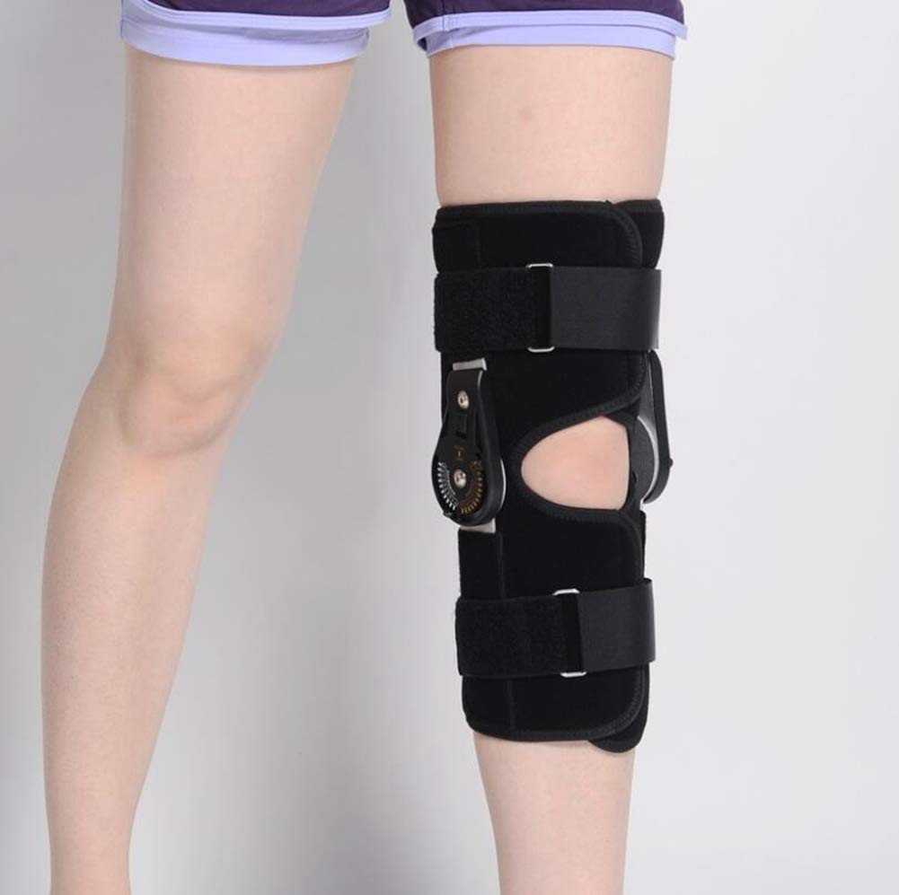 Knee Joint Support, Adjustable Angle Ligament Injury Knee Joint Protector, Sprain Knee Joint Fixed Brace,S