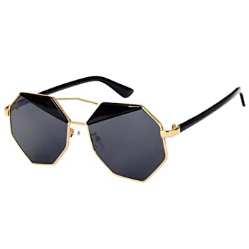 27a709d5176 Sunglasses - TOOGOO(R)Mirror Design Octagon Sunglasses (Black ...
