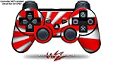 Sony PS3 Controller Decal Style Skin - Rising Sun Japanese Flag Red (CONTROLLER NOT INCLUDED)