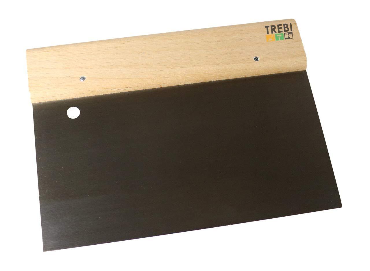 TREBI - 3 x Breitspachtel mit Holzgriff gerade 20cm/200mm Flä chenspachtel Malerspachtel