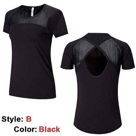 YANGCONG Ropa de Fitness de Yoga Camisa de Red de Yoga Traje ...