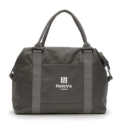 0c144390d487 HaloVa Duffle Bag, Gym Tote, Travel Shoulder Crossbody Bag for Men Women,  Gray