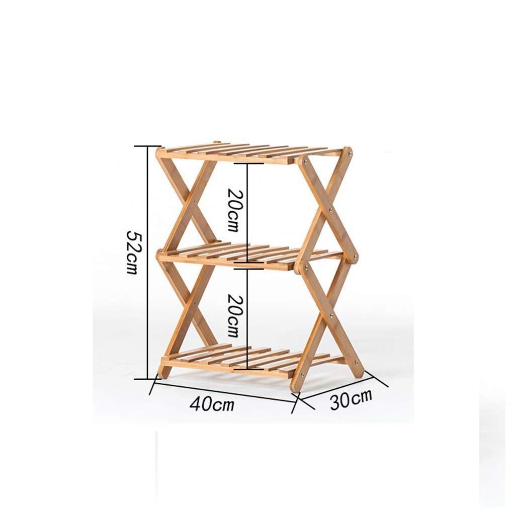 GYAO-Scaffali porta piante InsDimensionezione Gratuita Flower Shelf Solid Wood Indoor Multi-Layer Pieghevole Flower Stand Balcone Living Fleshy Flower Pot (Dimensione   E)
