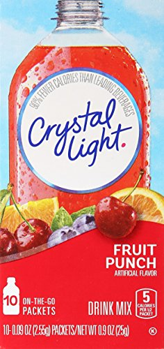 Crystal Light On The Go Fruit Punch Drink Mix - ( Single Box ) (Fruit The Punch Light On Crystal Go)