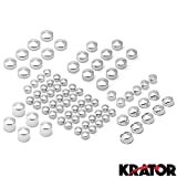 Krator MT247-002 Cover (1999-2006 Harley Twin Cam Road King FLH Model Chrome Toppers Custom Motorcycle Cruisers Frame Bolts Accessories Parts)