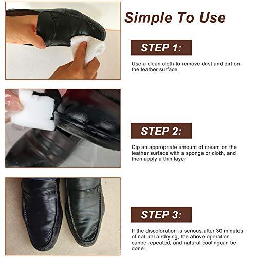 SEGMINISMART Crème Réparatrice Cuir,Kit Rénovation Cuir,Pâte Réparatrice Cuir,Adapté for Le Cuir Lisse/Chaussures/Sacs… 5