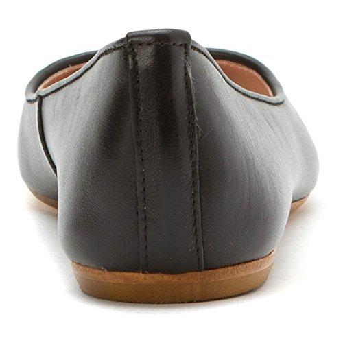 La Blanca Negro Montaña Flats Zapatos De Cumbre Mujer Kamora Cuero xvwR5Bvtq