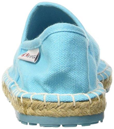 Superga 4524-Cotu - Mocasines de tela para mujer Azul Claro